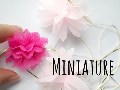 How to make miniature party tissue pom pom for your dollhouse (Tutorial)
