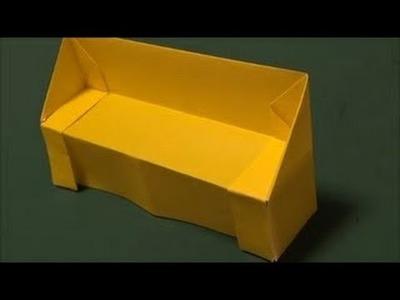 How to make paper sofa
