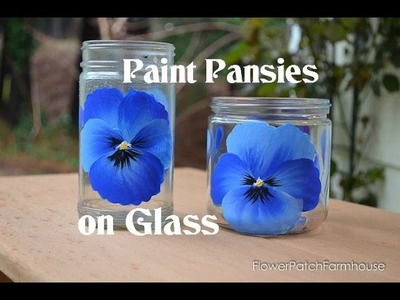 How to Paint Pansies on Glass