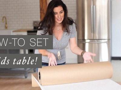 Kids Table Set Up and Decoration | How-To Guide