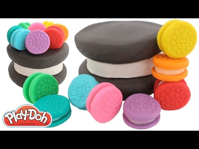 Learn Colors How to Make a Giant Play Doh Oreo Cake RainbowLearning