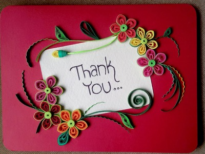 Paper Quilling Card : How To Make A Beautiful Greeting Card