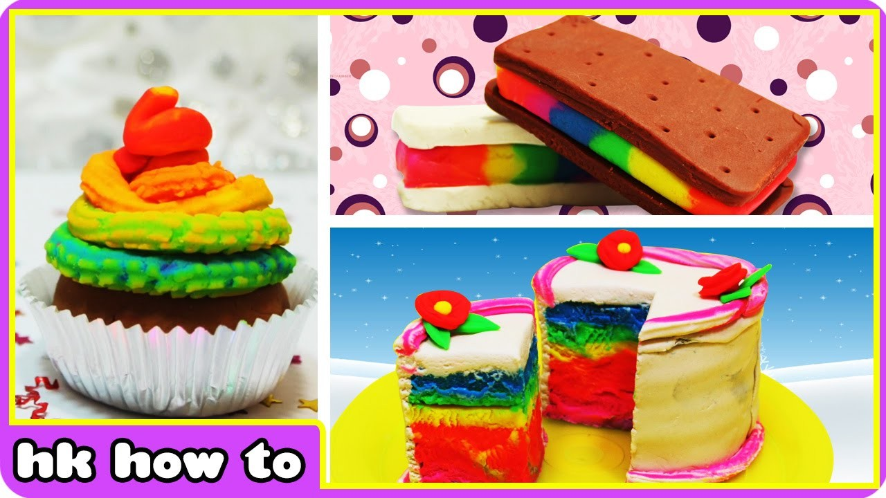 Play Doh Rainbow   Easy Play Doh Creations videos by HooplaKidz How To