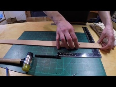 Ranting while showing how to make a belt. WolfeCustoms shop #018