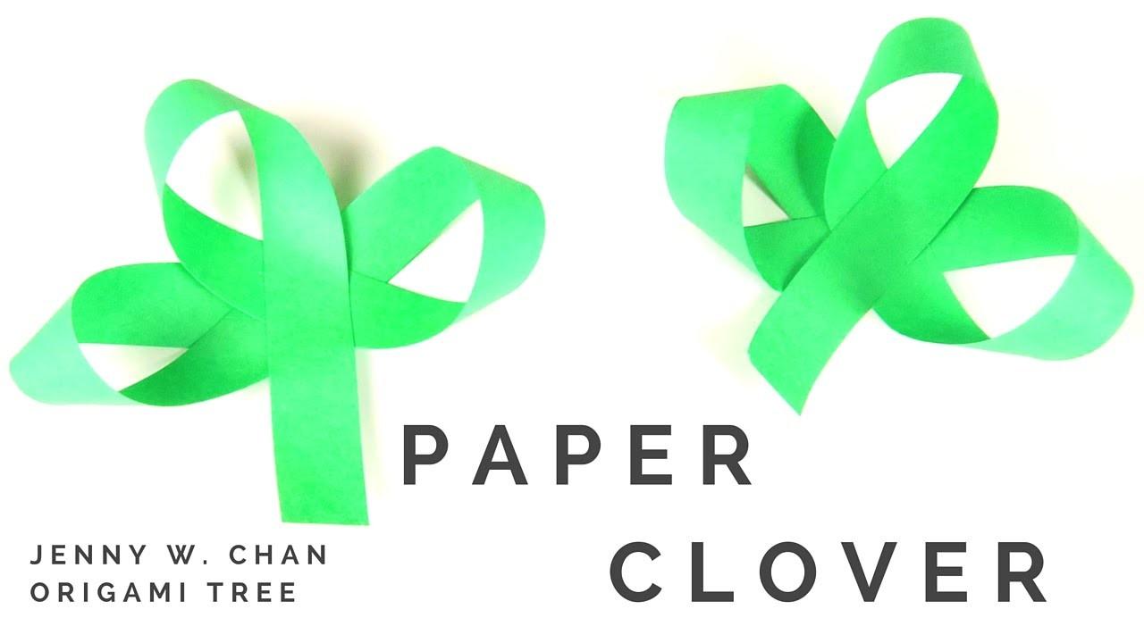 Saint Patrick's Day Crafts (St. Patrick's DIY)- Paper Clover - EASY Paper Shamrock Craft for Kids