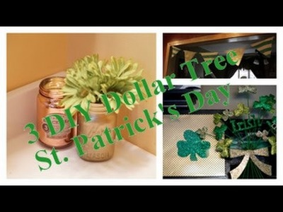 3 DIY Dollar Tree St  Patrick's Day