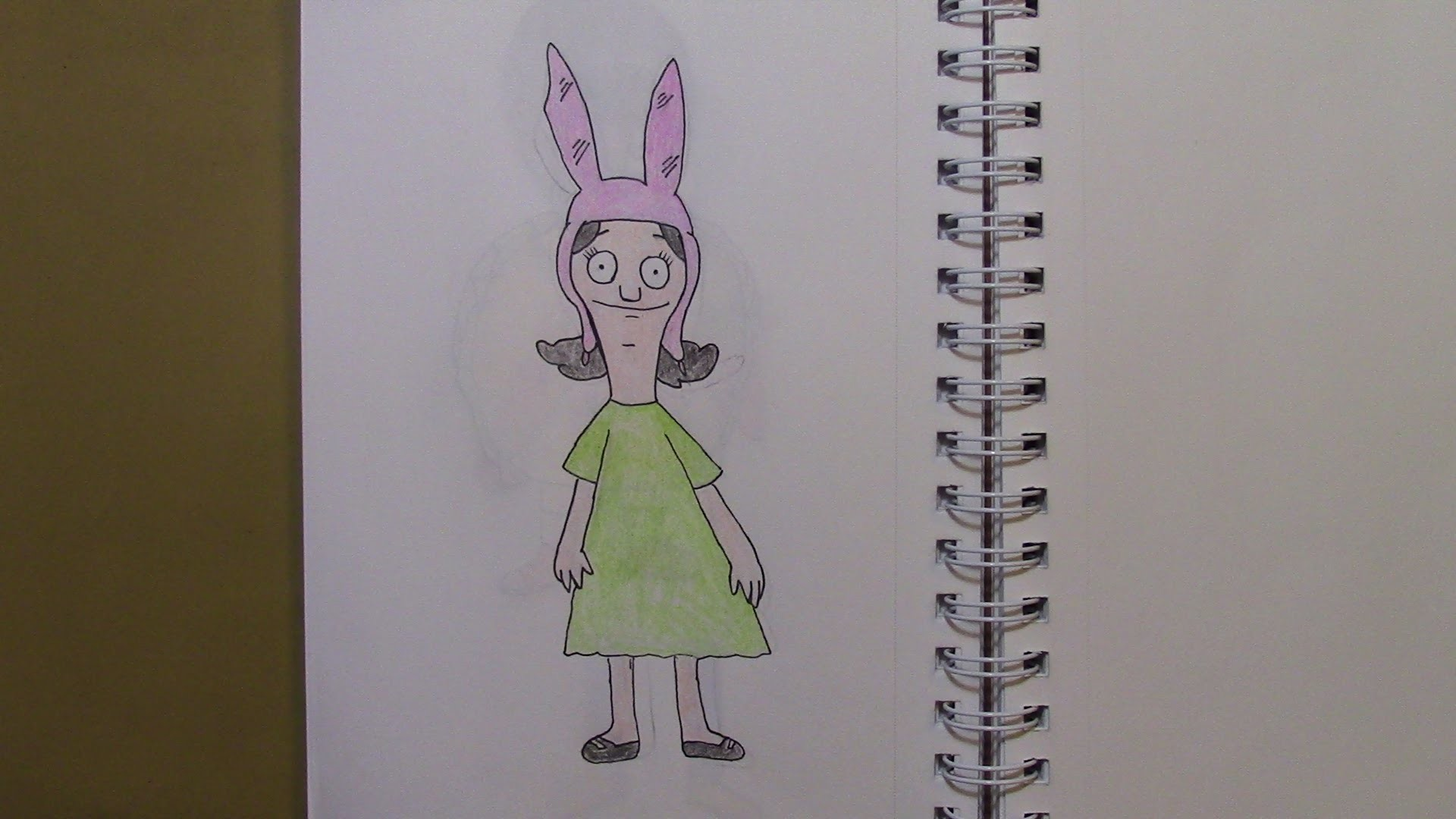 376 - How to Draw Louise Belcher from Bob's Burgers