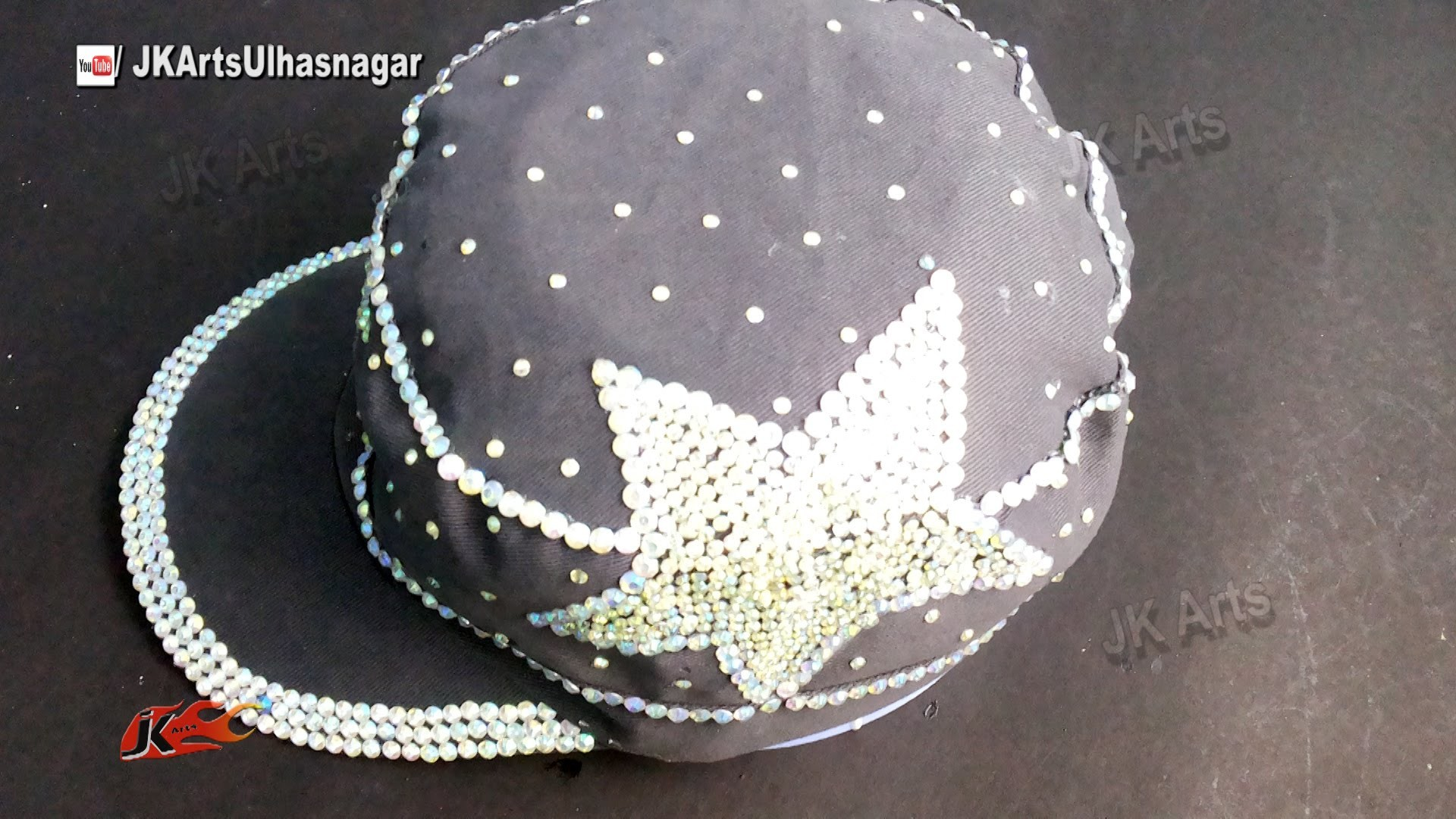 Baseball cap Decoration with Rhinestone | DIY How to | JK Arts 899