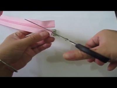 Cara Memasang Kepala Resleting - How To Put Slider On a Zipper