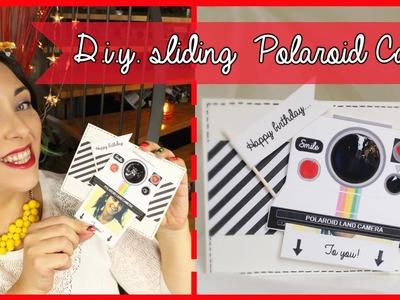 D.I.Y. Sliding Polaroid birthday Card - Biglietto di auguri con Polaroid estraibile| Giugizu