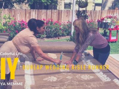 DIY a Burlap Wedding Aisle Runner