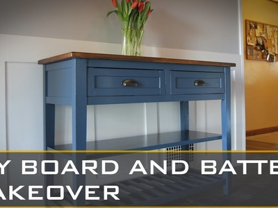 DIY BOARD AND BATTEN MAKEOVER