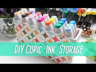 DIY Copic Various Ink Storage Box.Shelf - SNL Design Team - Fun Desk Tidy - Ma'at Silk