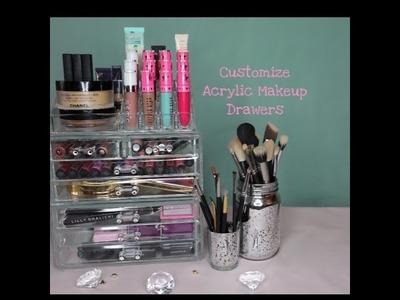 DIY Customize Acrylic Makeup Drawers