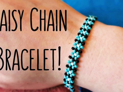 DIY Easy Daisy Chain Seed Bead Bracelet. Bead Weaving. ¦ The Corner of Craft