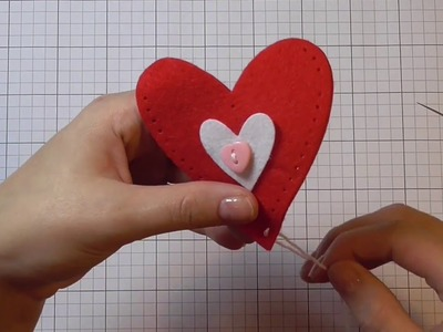 DIY Easy to make plush hearts