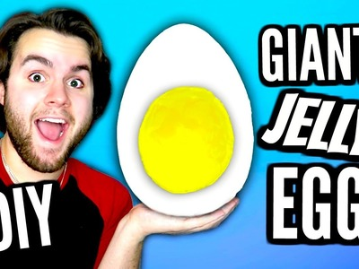 DIY Giant Jelly Egg! | How To Make HUGE Edible Gummy Egg With Jello Pudding Yolk Tutorial!
