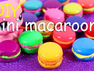 DIY Miniature Macarons ~ No polymer clay baking