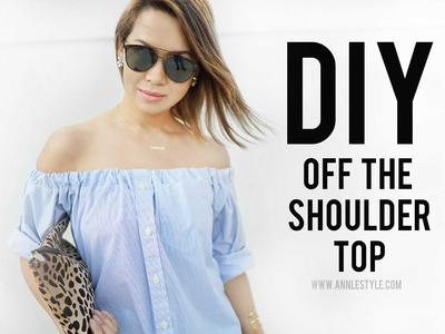 DIY Off The Shoulder Top Transformation   RELOVED   ANN LE