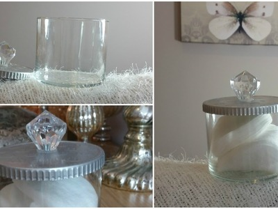 DIY |  PINTEREST INSPIRED PRETTY STORAGE JAR (SAVE YOUR CANDLE JARS)