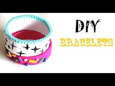 {DIY} Super Easy DIY Bracelets: Perler Beads.Duct Tape Roll. Washi Tape