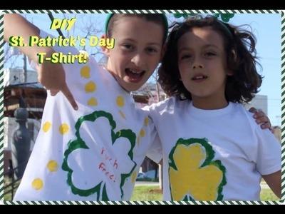 DIY T-Shirt St. Patrick's Day Craft - by SuperDuperKidsBlog