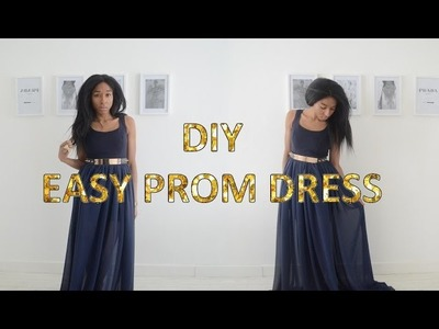 DIY UPCYCLE 5 | QUICK & EASY PROM DRESS.GOWN 2016