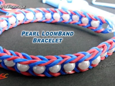 Fishtail Pearl loom band Bracelet | How to make | JK Arts 905