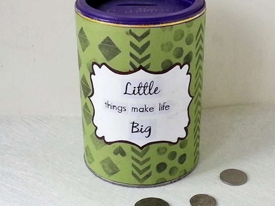 How To Create A Recycled Can Bank - DIY Crafts Tutorial - Guidecentral