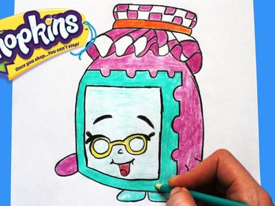 "How to Draw Shopkins Season 1 ""Gran Jam"" 