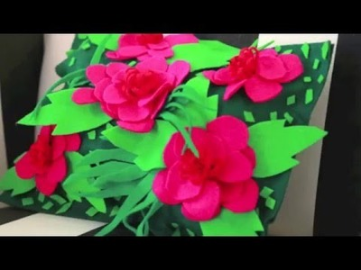 How to glue felt to felt: Flower Pillow by Aunt Peaches