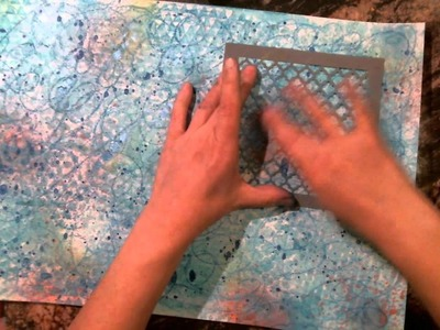 How to Lay Down a Mixed media  Background