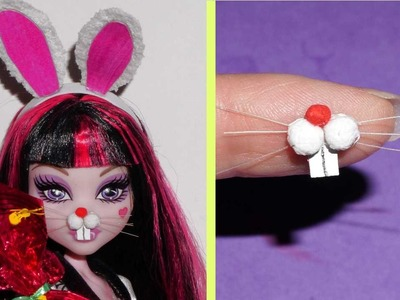 How to make a bunny nose or snout for doll Barbie, Monster High, Frozen.