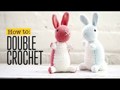 How to make a double crochet stitch (UK terms)