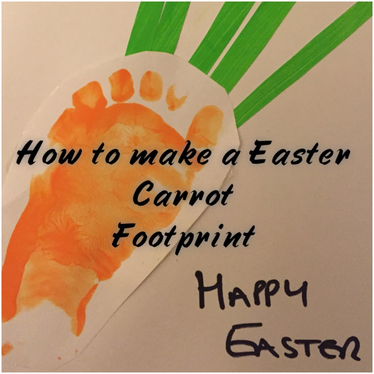 How to make a Easter Carrot Footprint | Easter Activity