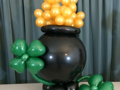 How To Make A Jumbo Pot O Gold From Balloons - St Patrick's Day Party Ideas