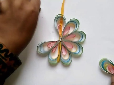 How to make a paper flower easy step by step