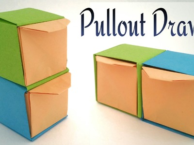"How to make a paper ""Pullout Drawer"" - Modular Useful Origami tutorial"