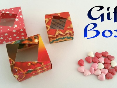 "How to make a paper ""Square Gift Box"" - Useful Origami Tutorial!!"