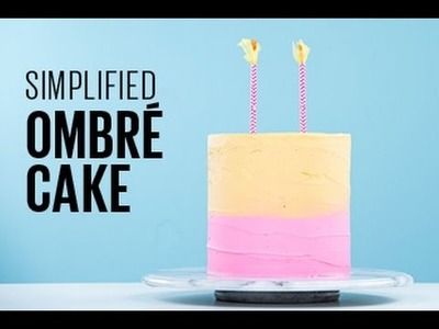 How to make a simple ombre cake
