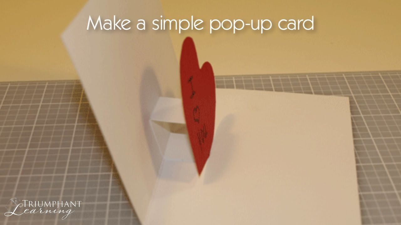 How to Make a Simple Pop up Card