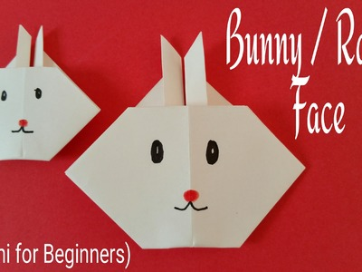 """How to make a super easy  Paper """" Easter Rabbit"""