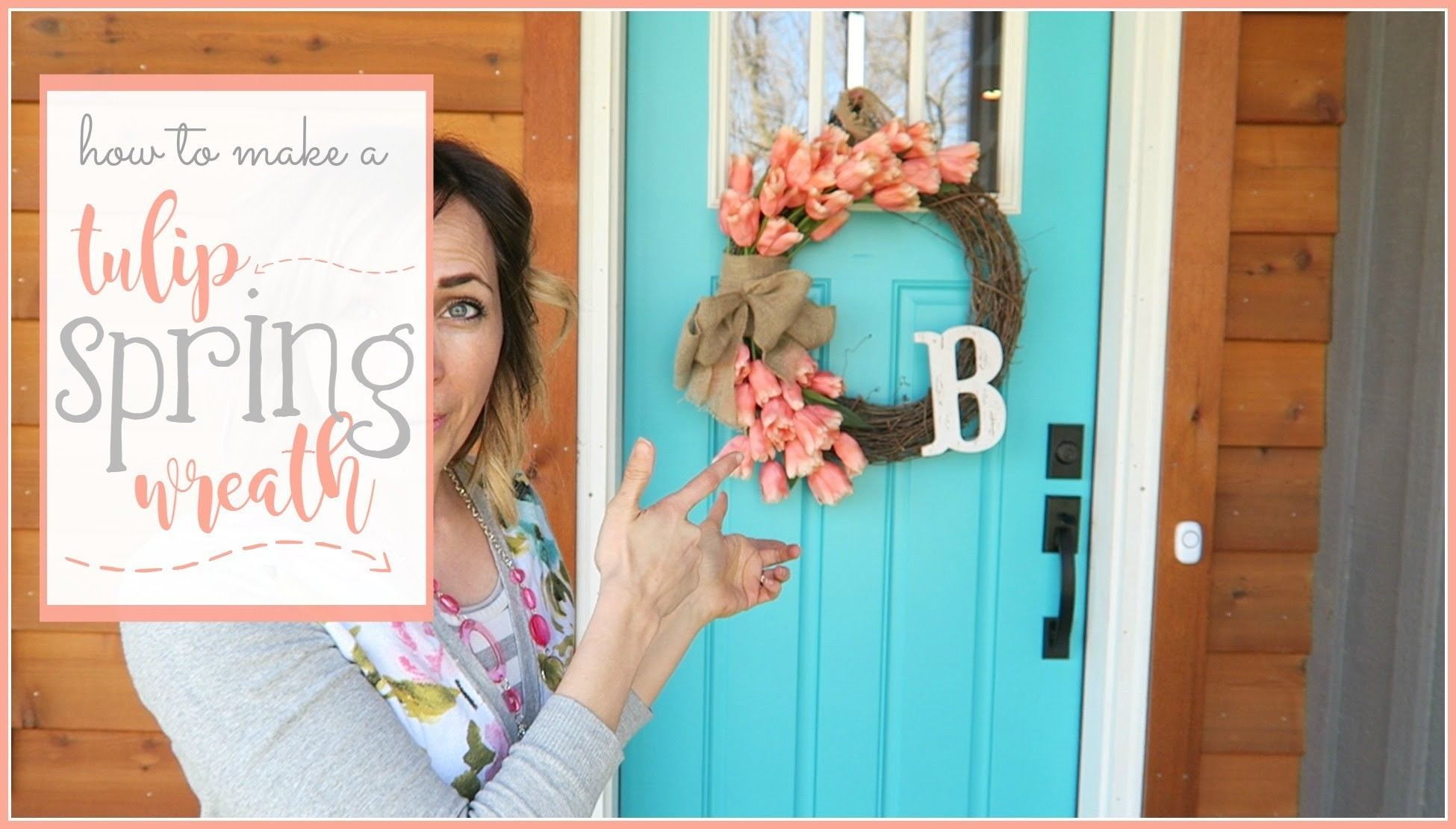 How to make a Tulip Spring Wreath