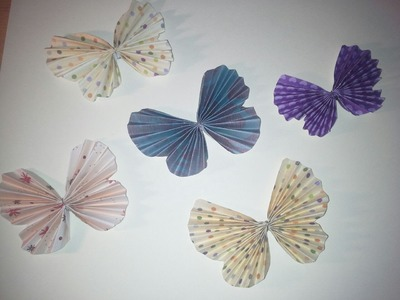 How To Make An Accordion Fold Butterfly Embellishment