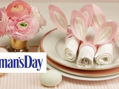 How to Make Bunny Ear Napkin Rings | Woman's Day