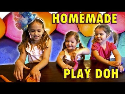 How to make Easy Homemade Play Doh. No Cooking