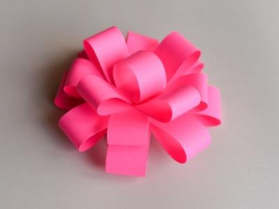 How to Make - Easy Paper Bow  - Step by Step | Papierowa Kokarda