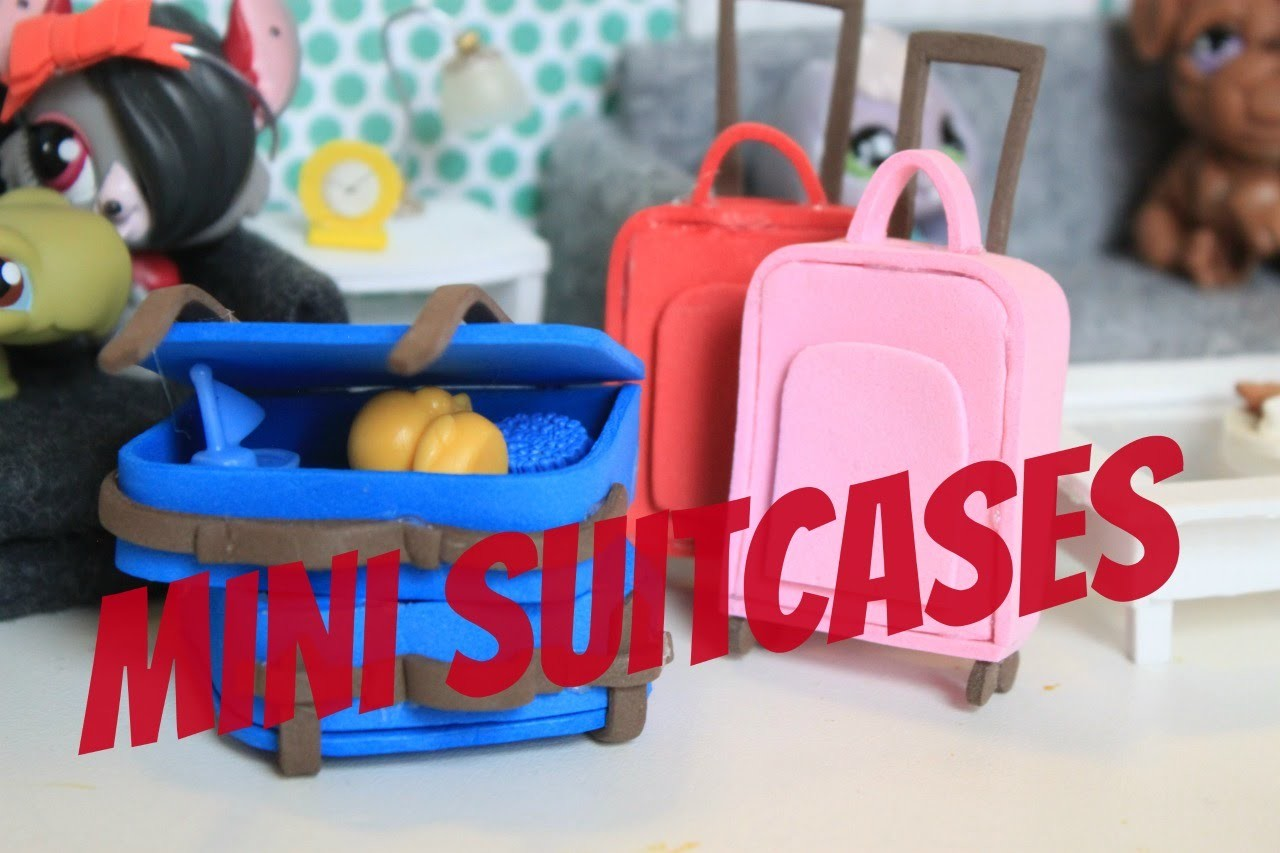 How to make miniature suitcases - Doll Crafts