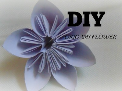 How to make origami flower- easy origami(origami for kids)