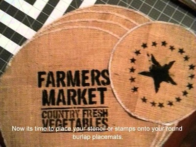 How to Make Round Burlap Placemats Tutorial